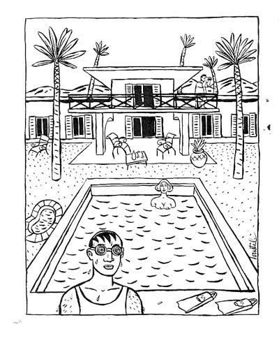 Champaka portfolio loustal for A la piscine dessin