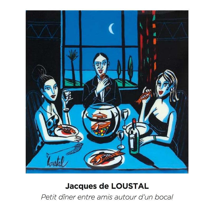 Jacques de loustal tables et festins for Diner entre amis rapide